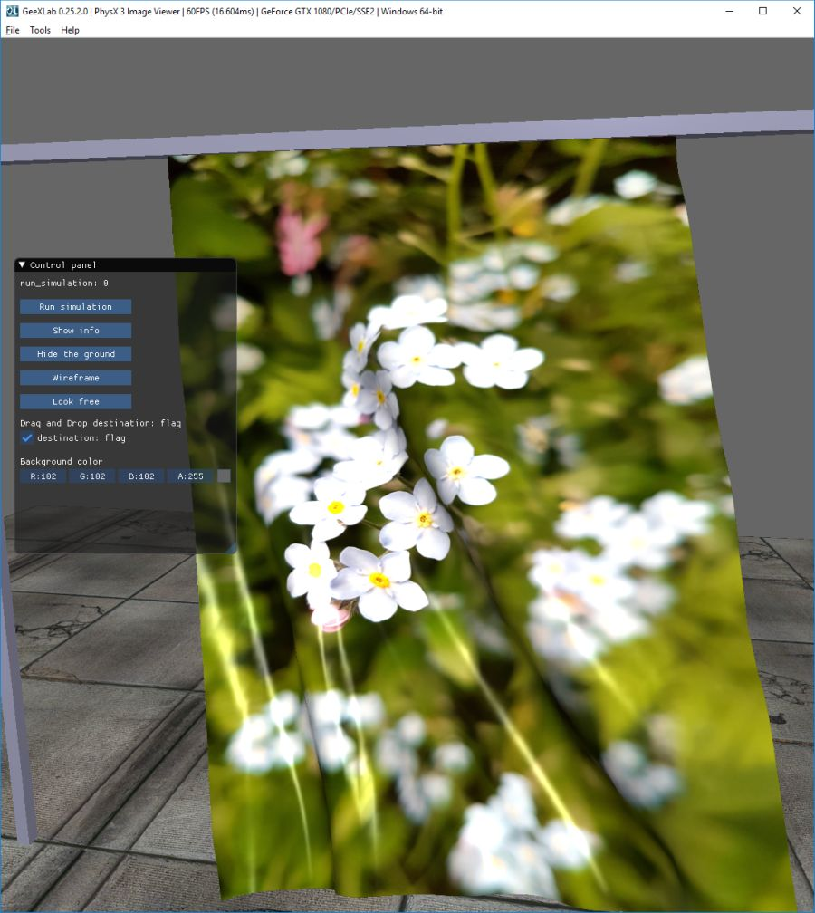GeeXLab - PhysX 3 image viewer