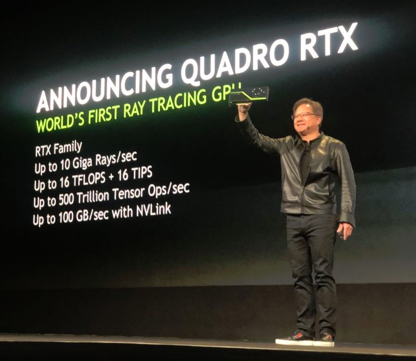 NVIDIA Quadro RTX 8000 announced at SIIGRAPH 2018