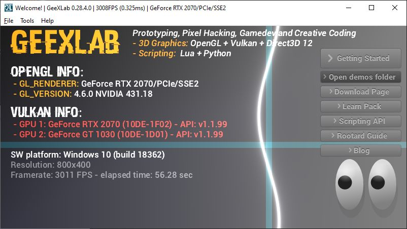 GeeXLab 0.28.4 on Windows 64-bit