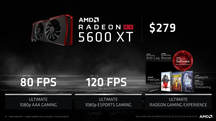Amd Radeon Rx 5600 Xt And Rx 5600 Too Announced Geeks3d