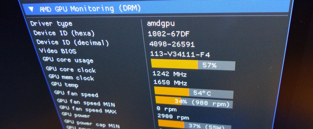 Linux GPU monitoring with DRM - GeeXLab demo