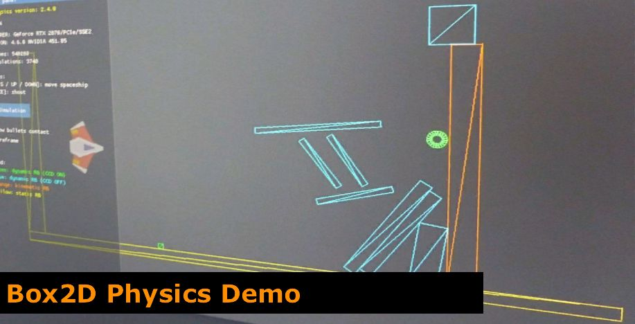 GeeXLab - Box2D Physics demo