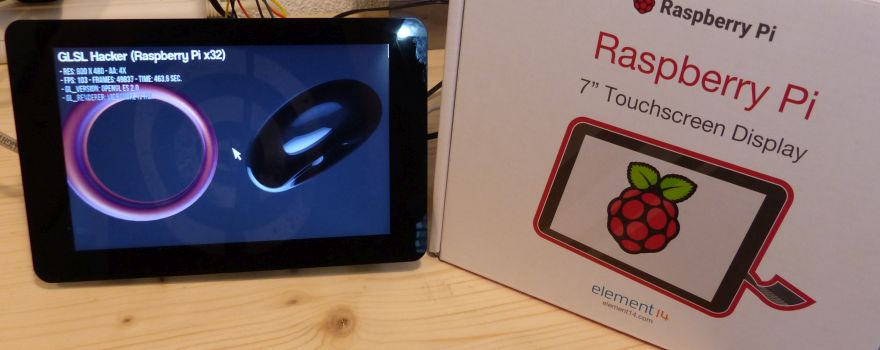 Raspberry Pi 7-inch Touchscreen Display Tested | Geeks3D