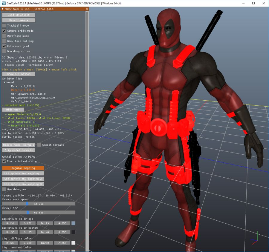 MadView3D 0 3 0: Simple Cross-Platform 3D Object Viewer | Geeks3D