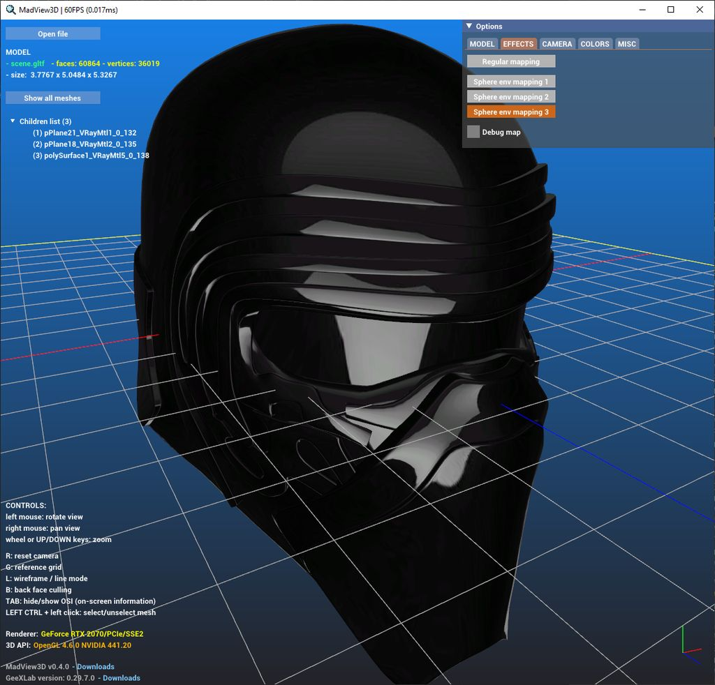 MadView3D - 3D model viewer