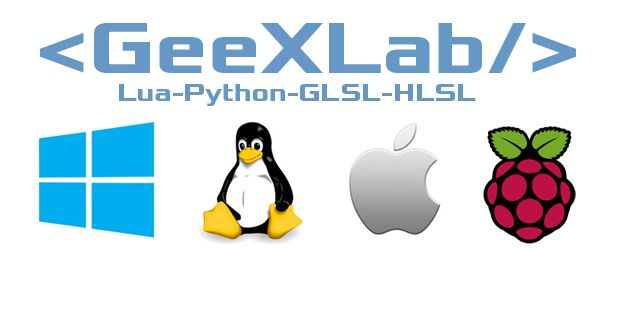 GeeXLab - Windows, Linux, macOS and RPi
