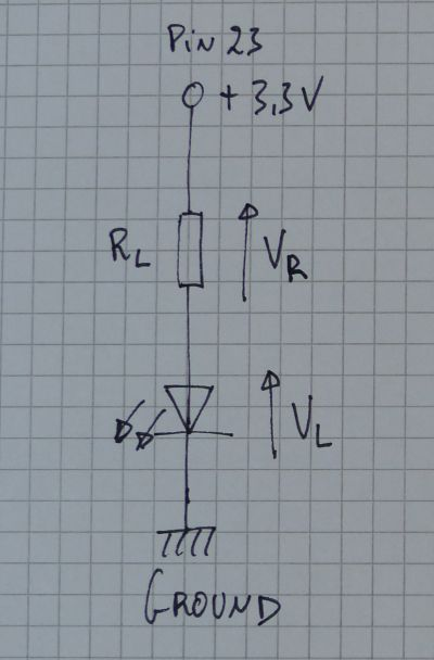 Simple LED + resistor circuit