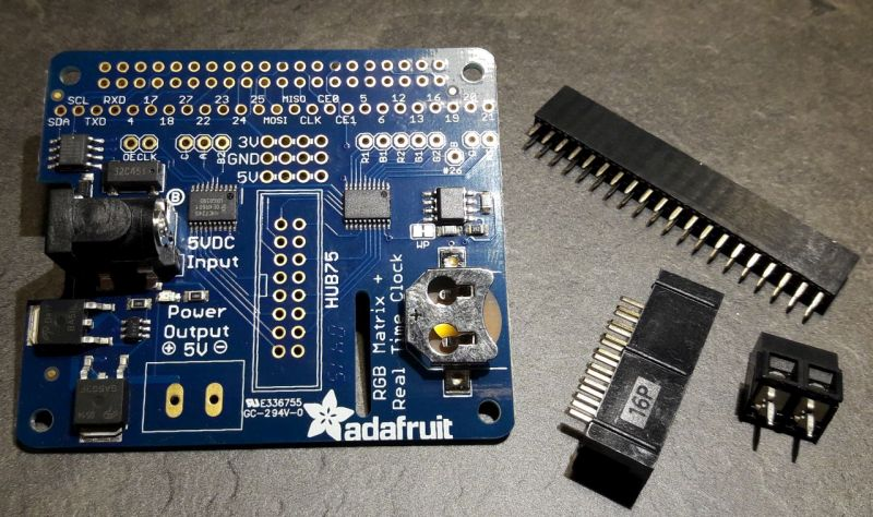 Adafruit RGB Matrix HAT: the Raspberry Pi can talk with the RGB LED