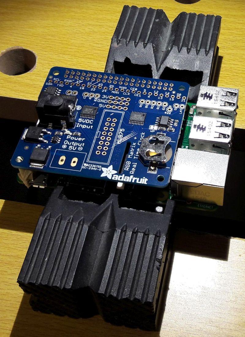 Adafruit RGB Matrix HAT: the Raspberry Pi can talk with the