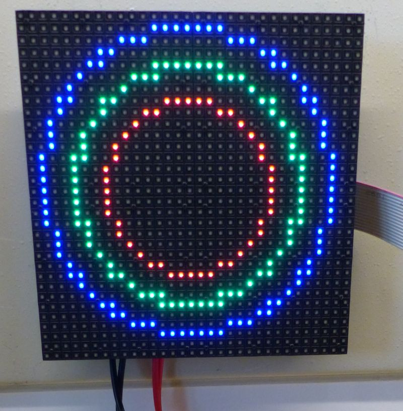 Drawing Simple Graphics on a RGB LED Matrix Panel with a Raspberry Pi and GeeXLab