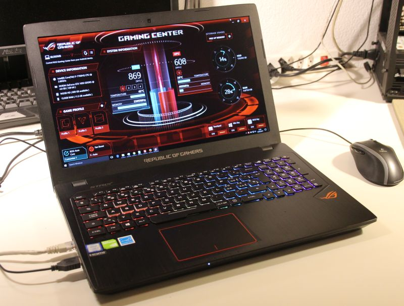 ASUS ROG Strix GL553VD Gaming Notebook Review (Core i7 7700HQ + GTX 1050)