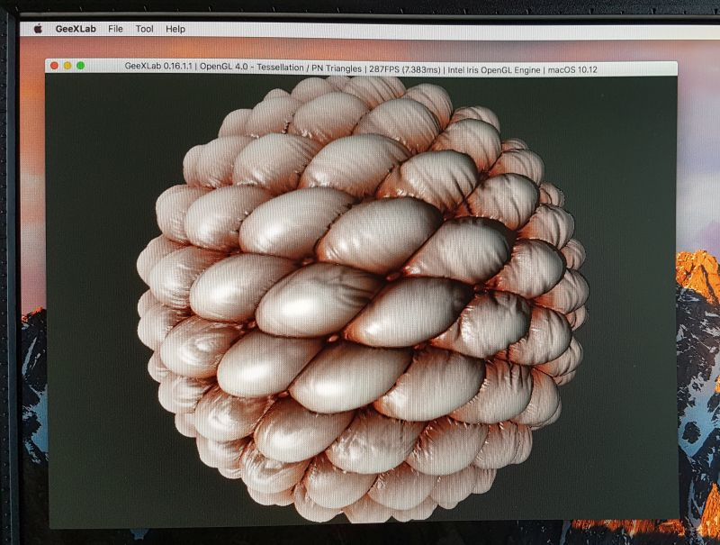 GeeXLab OpenGL 4.0 tessellation demo on macOS