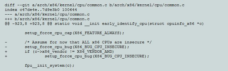 Disabling KPTI patch for AMD CPUs