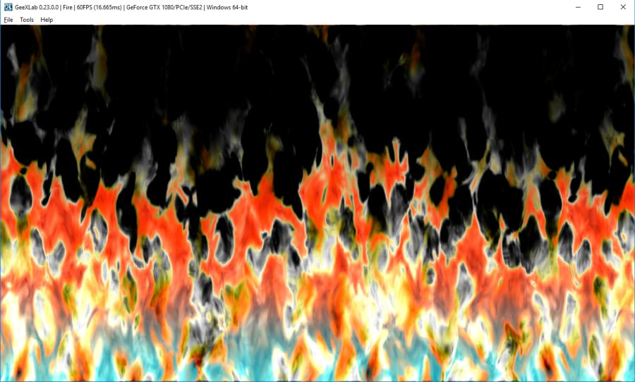 Simple fire shader made with GeeXLab