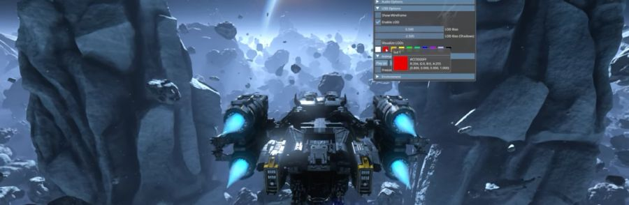 NVIDIA Mesh Shading Asteroids Demo on a RTX 2080