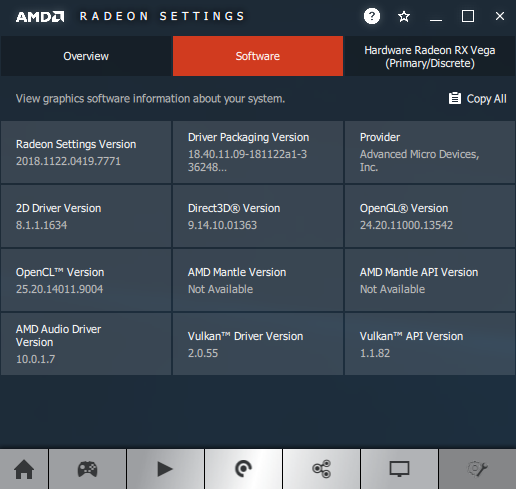 AMD Adrenalin software information