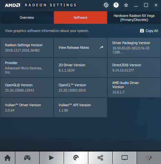AMD Adrenalin 18.12.3 - Software information