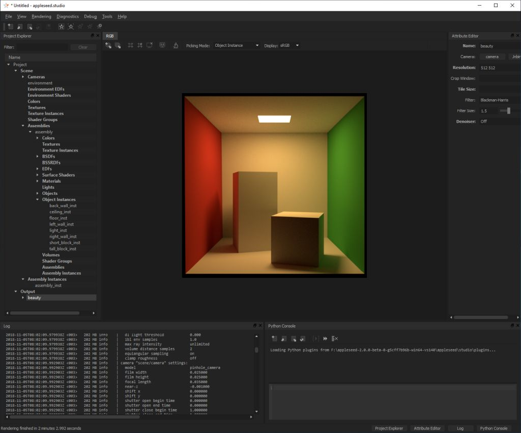appleseed: open source, physically-based global illumination rendering engine