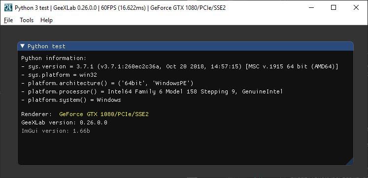 GeeXLab - Python 2 + Python 3