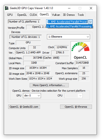 OpenCL support disabled for Intel, AMD Radeon GPU + Intel HD Graphics GPU