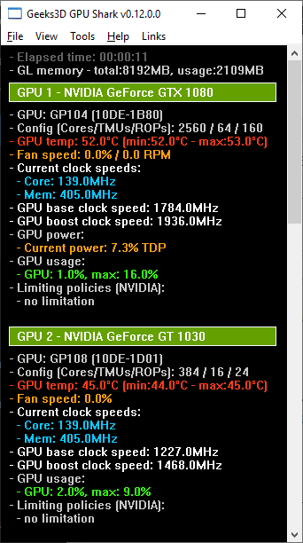 GPU Shark - GeForce GTX 1080