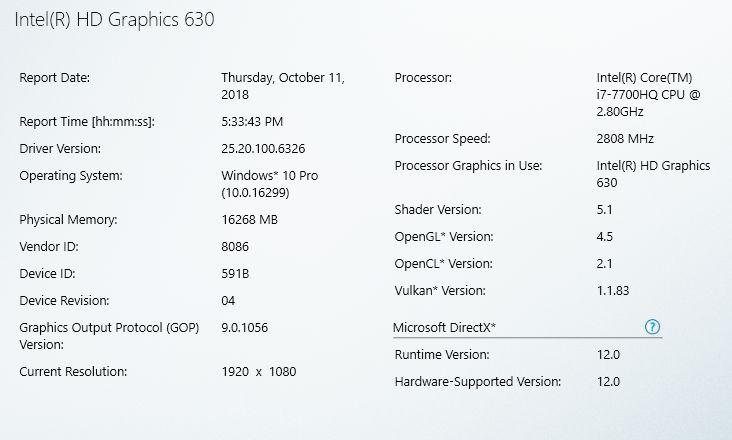 Intel Graphics Driver for Windows 24 20 100 6326