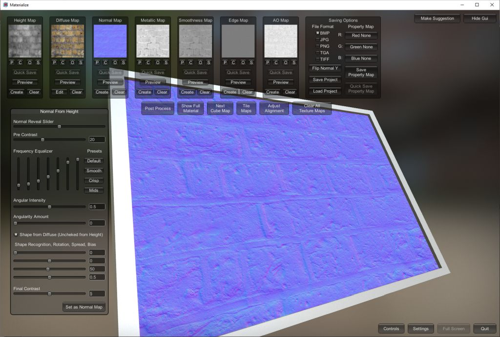 Materialize 1.78 texture utility - pbr, texturing, gamedev