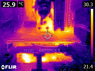 MSI GeForce RTX 2070 Ventus 8GB GDDR6 - Thermal imaging - idle