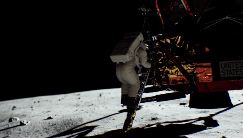 NVIDIA RTX real time raytracing demo: lunar landing
