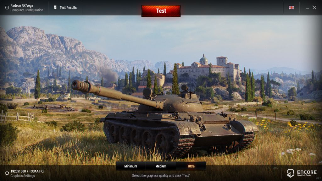 World of Tanks enCore Graphics Benchmark