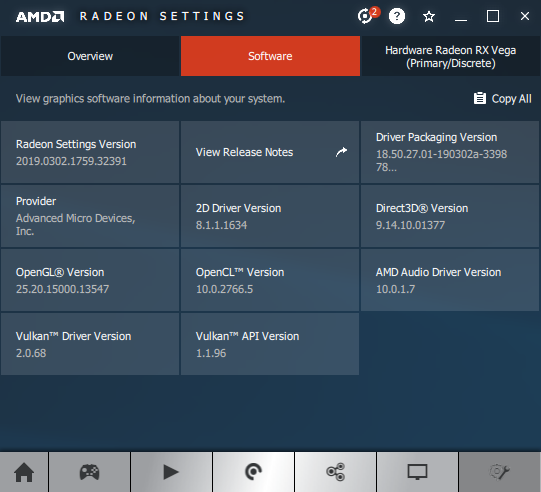 AMD Adrenalin 2019 Edition 19.3.1 + Radeon RX Vega 56