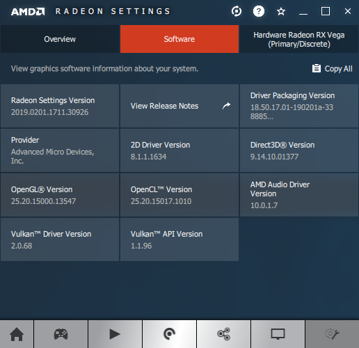 AMD Adrenalin 2019 Edition 19.2.1 + Radeon RX Vega 56