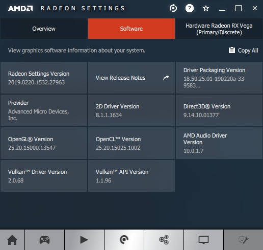 AMD Adrenalin 2019 Edition 19.2.3 + Radeon RX Vega 56