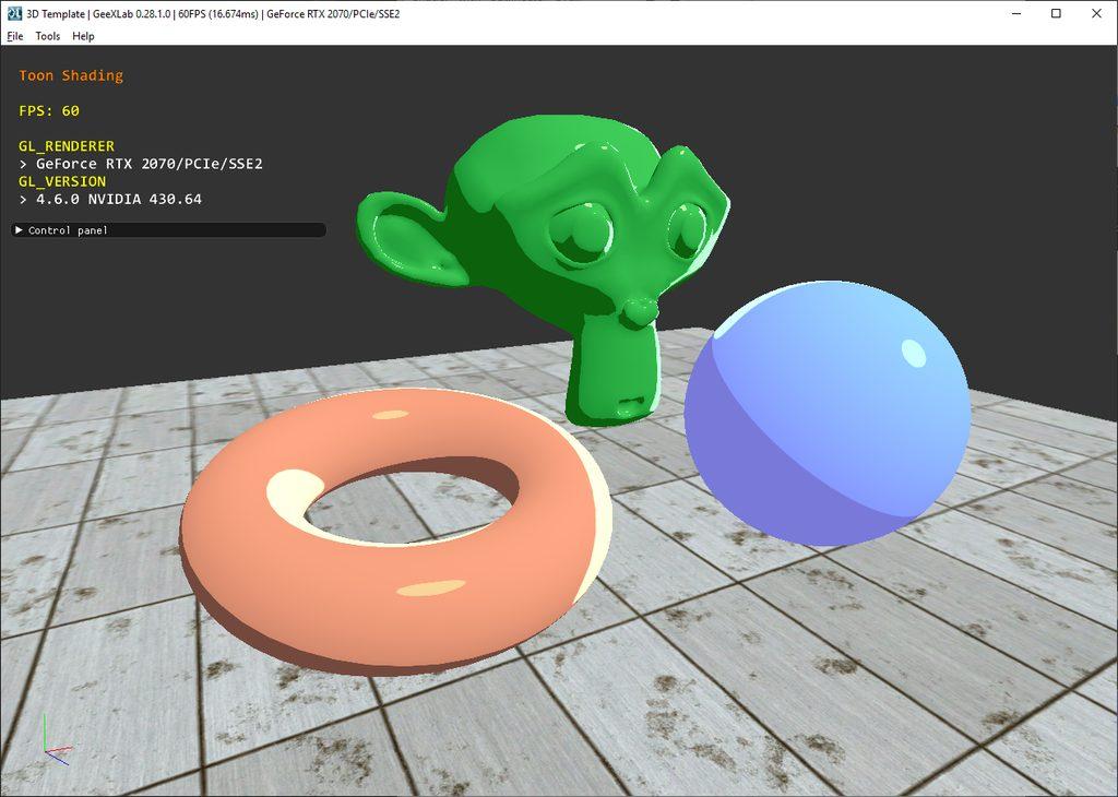 GeeXLab - Toon / cel-shading