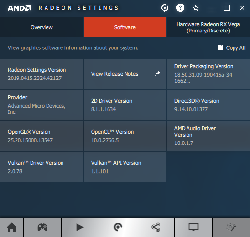 AMD Adrenalin 19.4.3 - information