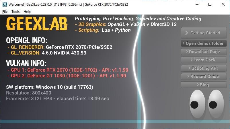 GeeXLab 3D programming tool