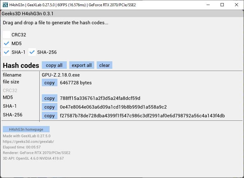 H4shG3n 0.3.1 - hash code generator