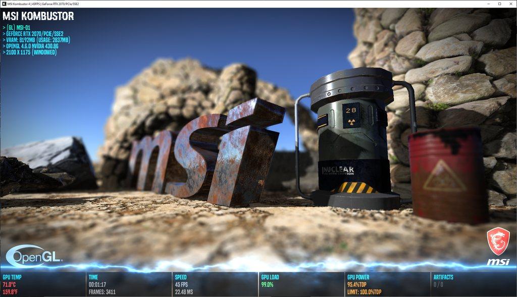 MSI Kombustor 4 0 1 0 Released | Geeks3D