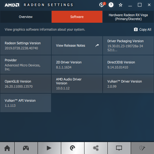 AMD Adrenalin 1.9.7.4 information