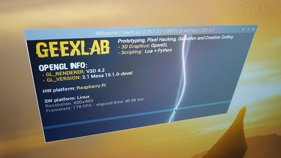 GeeXLab 0.29.1 for Raspberry Pi