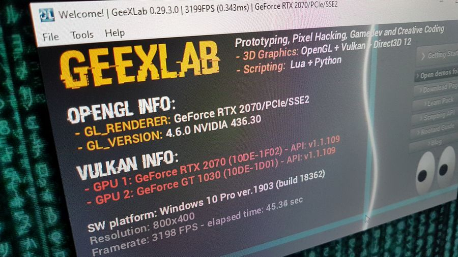 GeeXLab 3D prototyping for Win64, Linux64, macOS, RaspberryPi and TinkerBoard