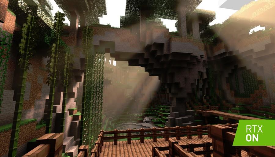 Minecraft and NVIDIA RTX
