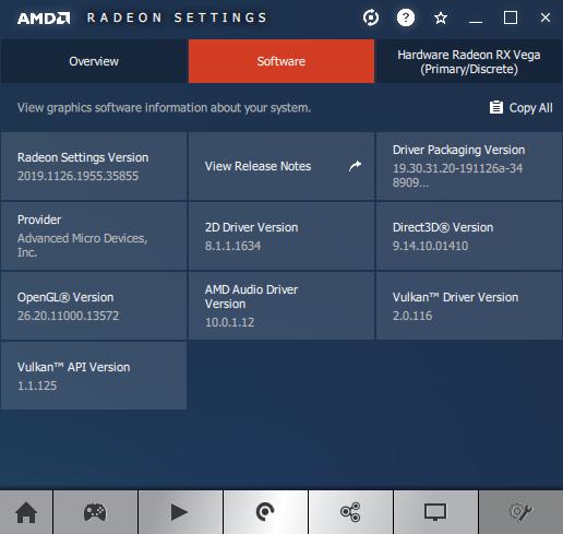 Radeon Software Information