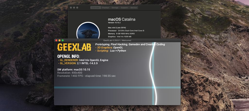 GeeXLab on macOS 10.15 Catalina