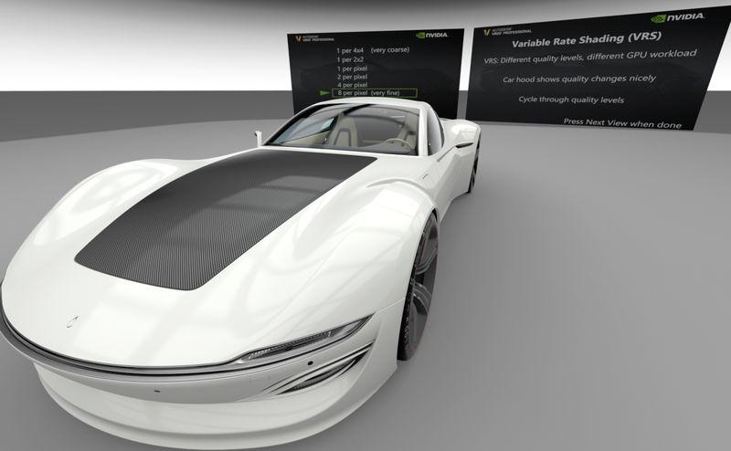 NVIDIA VRS in Autodesk VRED