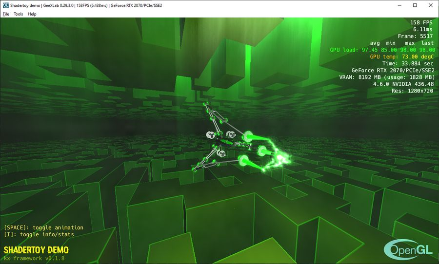 Shadertoy demo ported to GeeXLab