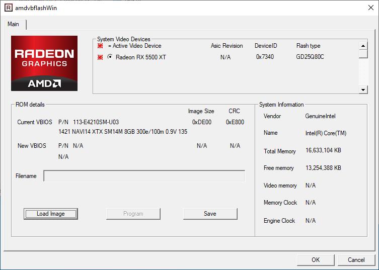 AMDVbFlash + Radeon RX 5500 XT