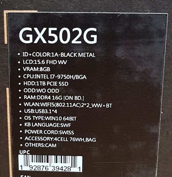 ASUS ROG Zephyrus S GX502GW Gaming Notebook