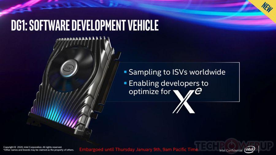 Intel Xe DG1-SDV graphics card