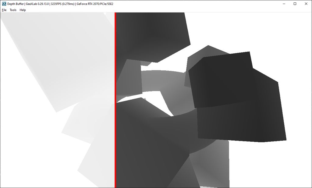 GeeXLab demo - Depth Buffer Visualization - OpenGL / GLSL